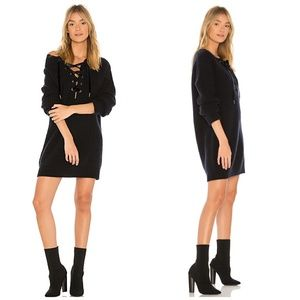 Rails | Cashmere Blend Lace up Knit Sweater Dress